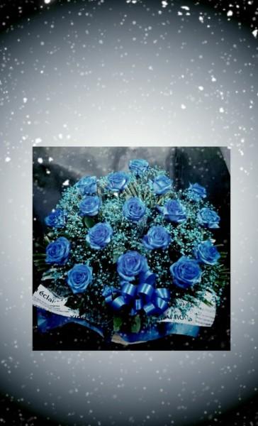 青薔薇のアレンジメント