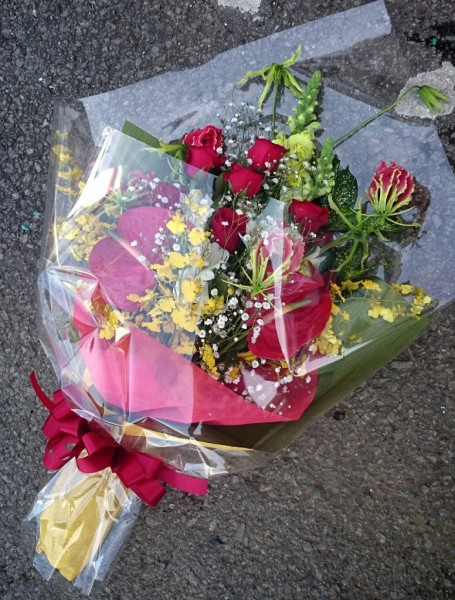 花束〜長寿のお祝い